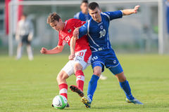 Austria vs. Bosnia and Herzegovina (U19) Royalty Free Stock Image