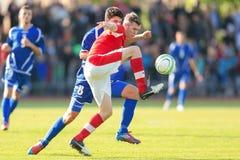 Austria vs. Bosnia and Herzegovina (U19) Royalty Free Stock Photos