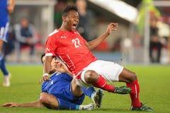 Austria vs. Bosnia-Herzegowina Royalty Free Stock Images