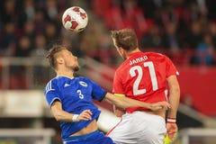 Austria vs. Bosnia-Herzegowina Stock Photography