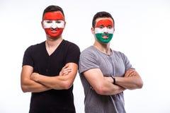 Austria vs Hungary before game Royalty Free Stock Photo