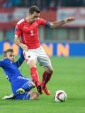 Austria vs. Liechtenstein Stock Photography