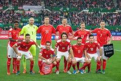 Austria vs. Liechtenstein Stock Image