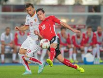 Austria vs. Montenegro Stock Image