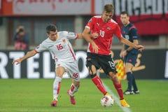 Austria vs. Montenegro Stock Photography