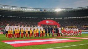 Austria vs. Montenegro Stock Images