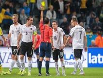 Austria vs. Sweden Stock Photography