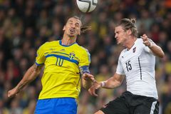 Austria vs. Sweden Stock Images