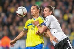 Austria vs. Sweden Stock Photos