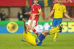 Austria vs. Sweden Royalty Free Stock Image