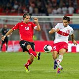 Austria vs. Turkey Stock Photos