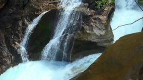 Austria. Waterfall in the city of Krimml. Waterfall in Krimml stock video footage