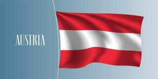 Austria waving flag vector illustration Royalty Free Stock Images