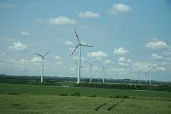 Austria wind farm Royalty Free Stock Photo