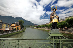 austria zły ischl Jesus statua Zdjęcia Stock