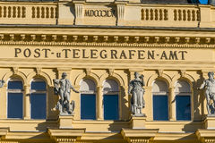 Austria, zły ischl, urząd pocztowy obraz stock