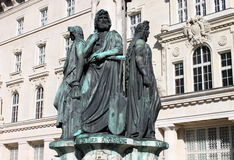 Austriabrunnen fountain, Vienna Royalty Free Stock Photo