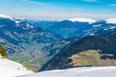 Austriaccy Alps w zimie Zdjęcia Royalty Free