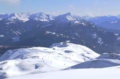 Austriaccy alps: Zima sporta region w Lienz mieście w wschodu Tir obrazy stock
