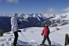 Austriaccy alps: Zima sporta region w Lienz mieście w wschodu Tir obraz royalty free