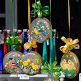 Austriacka Bożenarodzeniowa dekoracja - szklane piłki fotografia royalty free
