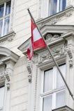austriacka flagę Obrazy Stock