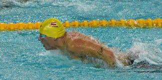 Austriacka pływaczka Sebastian STEFFAN AUT Obraz Stock