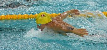 Austriacka pływaczka Sebastian STEFFAN AUT Obrazy Royalty Free