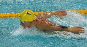 Austriacka pływaczka Sebastian STEFFAN AUT Obraz Royalty Free