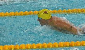 Austriacka pływaczka Sebastian STEFFAN AUT Obrazy Stock