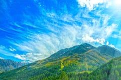 Austriacki alps gór lata krajobraz obraz royalty free
