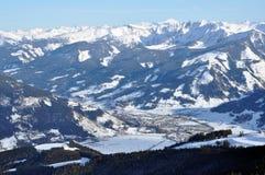 austriacki alps kurort widzii zima narciarskiego zell Obrazy Royalty Free