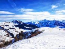 austriacki alps narciarstwo Zdjęcia Royalty Free