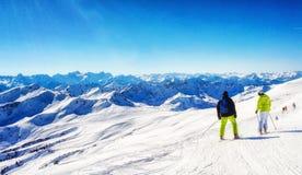 austriacki alps narciarstwo Obrazy Royalty Free