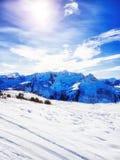 austriacki alps narciarstwo Zdjęcie Royalty Free