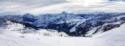 austriacki alps narciarstwo Obrazy Stock