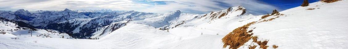 austriacki alps narciarstwo Fotografia Stock
