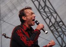 Austriacki muzyk Hubert Von Goisern w Linz Zdjęcia Stock