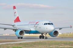 Austriackie drogi oddechowe Aerobus A320 Obraz Royalty Free