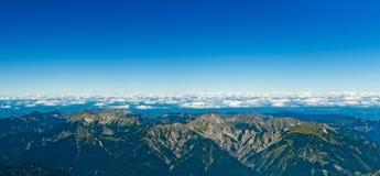 austriackiego internu niemiecki panoramicznego widok zugspitze Obrazy Stock