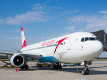 A-319 Austrian Airlines Images libres de droits