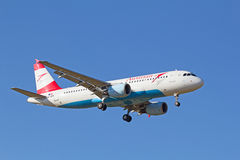 A-318 Austrian Airlines Photos libres de droits