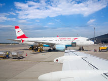 A-319 Austrian Airlines Imagem de Stock Royalty Free