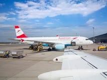 A-319 Austrian Airlines Imagen de archivo libre de regalías