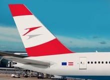 Austrian Airlines acepilla. Fotos de archivo
