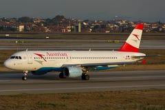 Austrian Airlines Airbus A320 Fotografia Stock Libera da Diritti