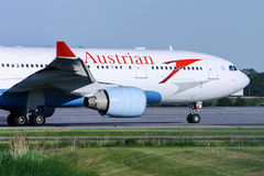 Austrian Airlines Airbus A330 Aircraft Royalty Free Stock Photo