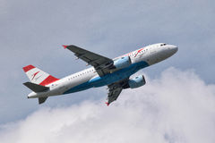 Austrian Airlines Airbus A319-112 Stock Image