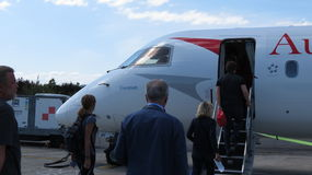 Austrian airlines aircraft Royalty Free Stock Photos