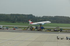 Austrian Airlines aircraft taking off Stock Photo